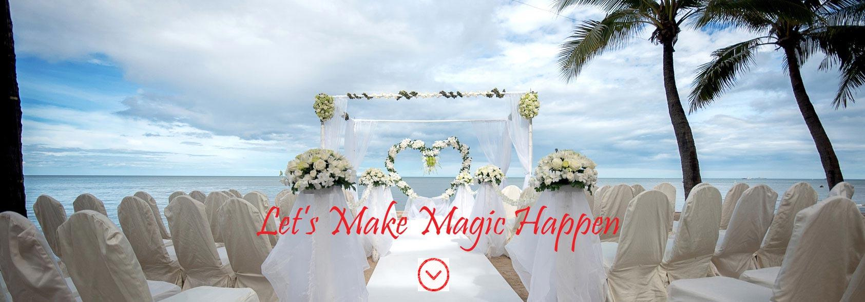 wedding reception magic